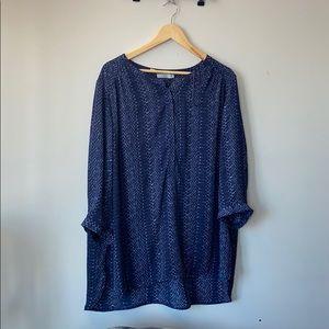 Dalia Blue Tunic, 3X